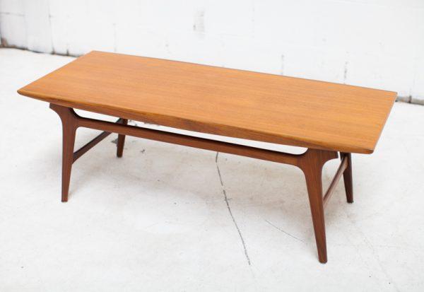 Vintage Wébé Scandinavische salontafel design teak salontafel