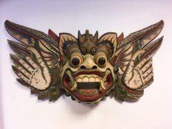 Groot houten design vintage brocante masker indonesië bali